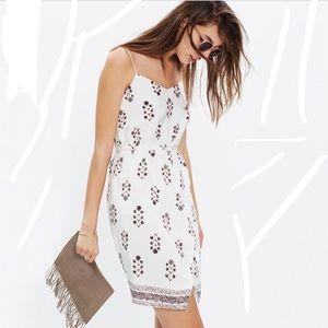 Madewell Floral Silk Sleeveless Dress